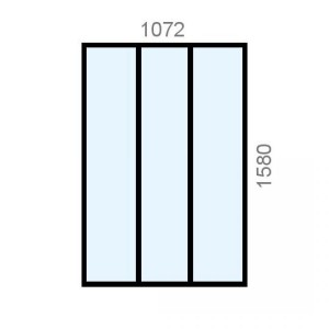 Verrière aluminium L1072 x...