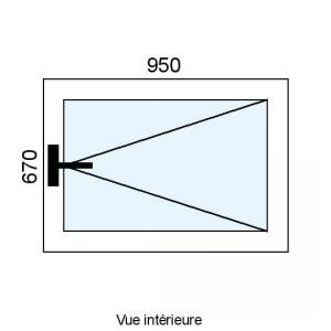 Fenêtre PVC 1 vantail L950...