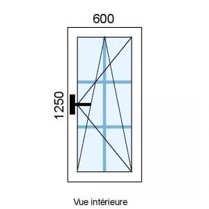 Fenêtre PVC OB 1 vantail...