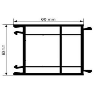 Elargisseur de 60 mm en PVC
