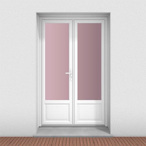 fenetre pvc gamme technic+ - Porte-fenêtre 2 vantaux - serrure - soubassement lisse