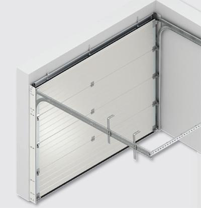 systeme porte de garage sectionnelle