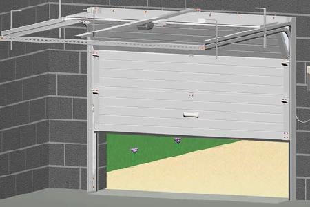 reussir-sa-pose-de-porte-de-garage-sectionnelle-plafond